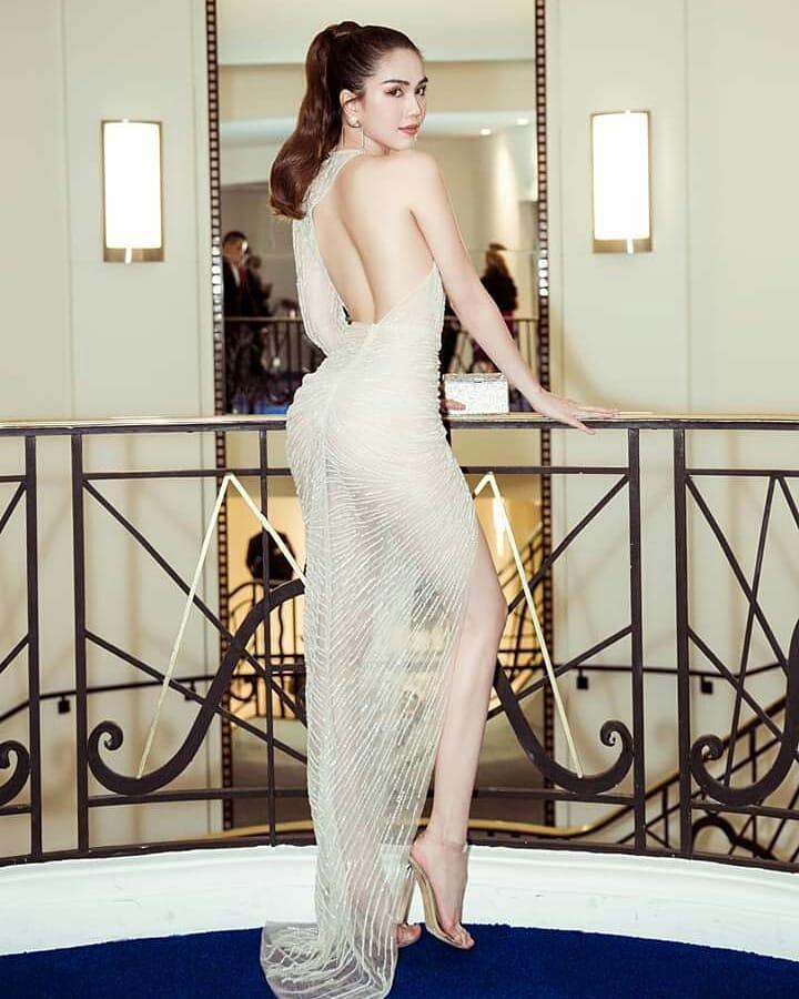 戛纳电影节,越南女星邓玉贞清凉礼服太美了
