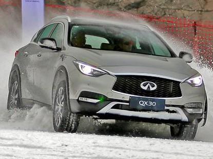 标榜运动的英菲尼迪QX30,到了雪地能行吗?