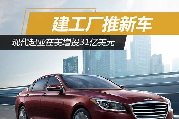 建工厂推新车 现代起亚在美增投31亿美元