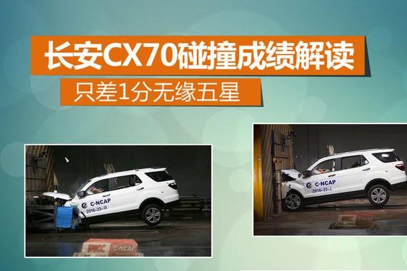长安CX70碰撞成绩解读 只差1分无缘五星