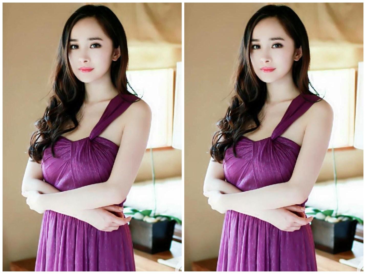 赵丽颖与杨幂穿紫色礼服差异大,一个优雅一个尴尬