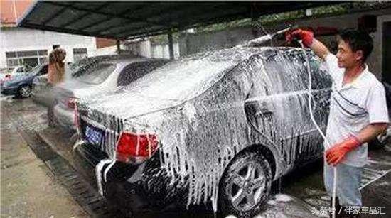 洗车时不得不摒弃的坏习惯