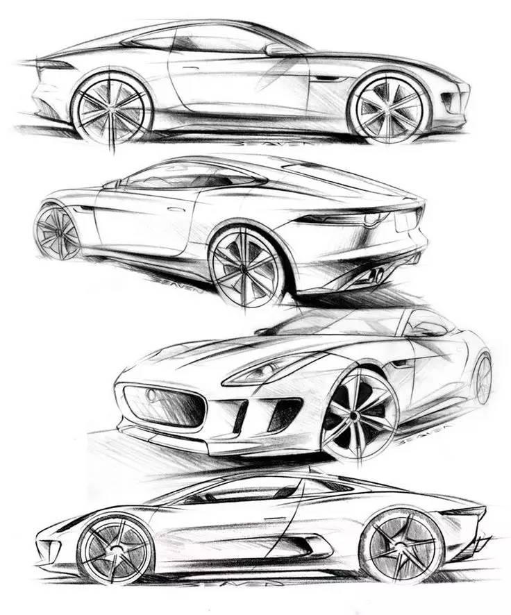 如何学会画帅的汽车手绘图,告诉你个顶级简单的方法