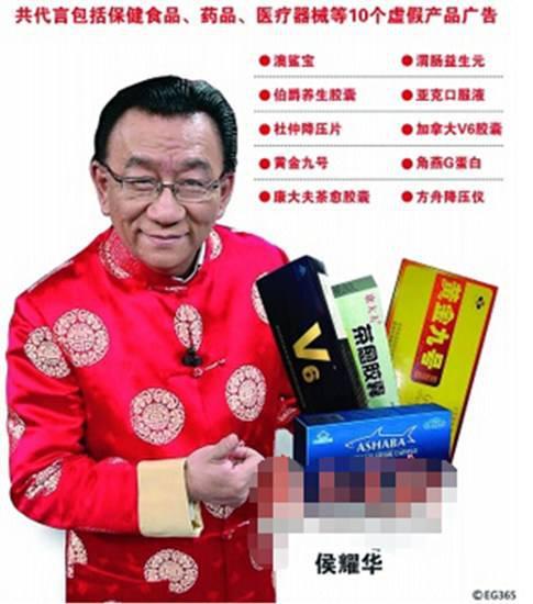 那些年,侯耀华代言的那些虚假广告