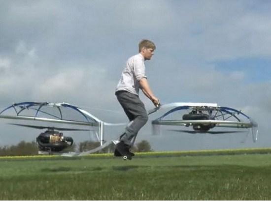 网友:上天了!美国小伙发明悬浮自行车