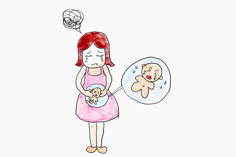 孕妈妈肚子贴画
