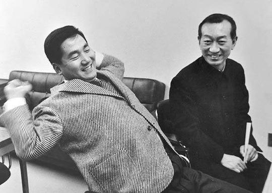 年轻时的林海峰先生和恩师吴清源