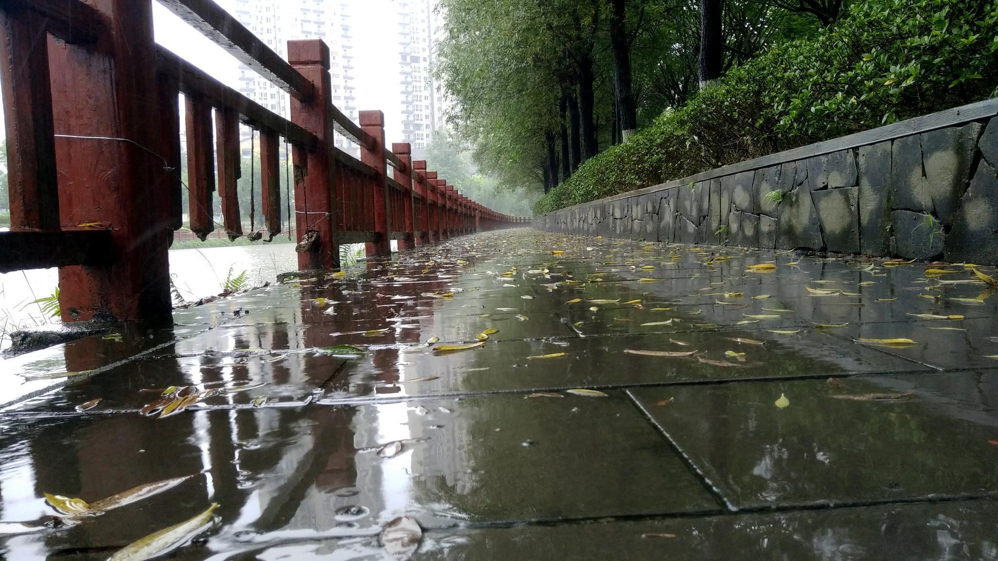 岳池的下雨天是这样的美