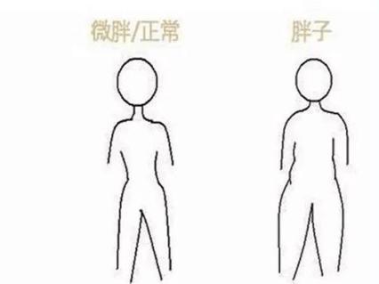 胖瘦简笔画_胖瘦仅在一瞬间,看5个地方判断你是真胖还是微胖