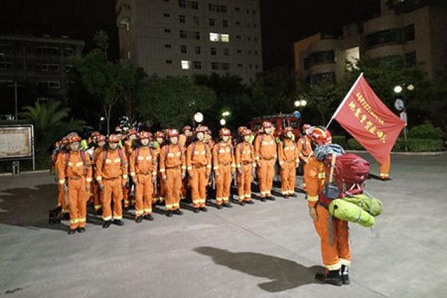 玉溪消防在行动 增援九寨沟地震救援力量集结完毕