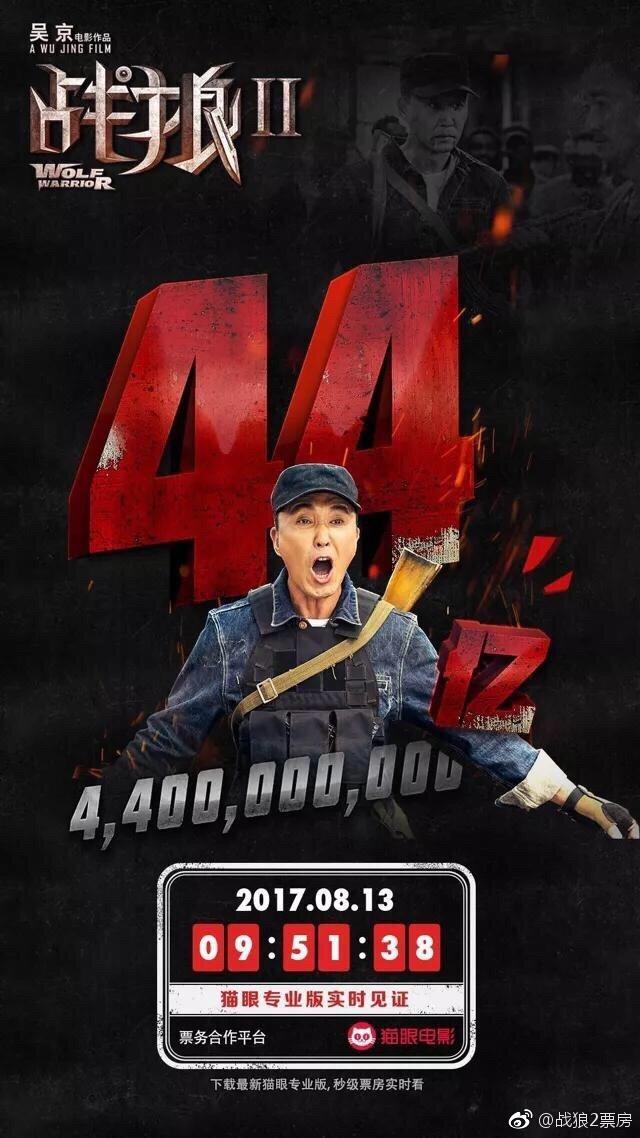 《战狼2》44亿了!达康书记吴刚大吼我的GDP