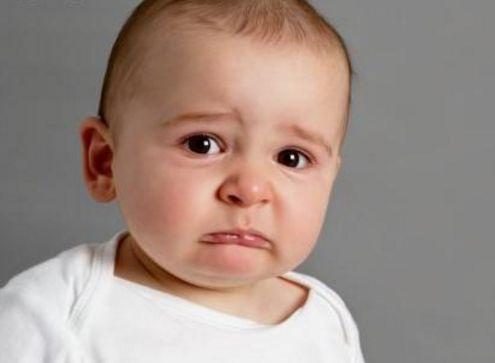 婴儿哭泣可爱照片