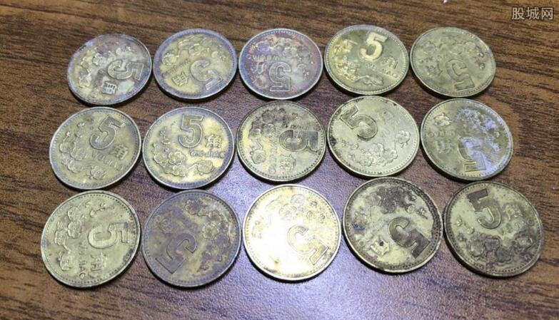 梅花5角硬币值多少钱:最高或可卖10万