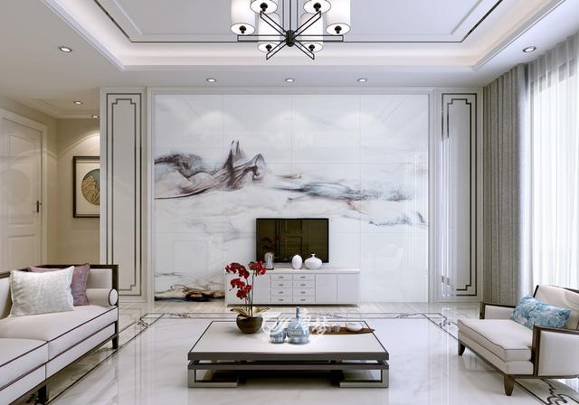 2017最新电视墙原创设计,石材护墙板打造客厅新时尚
