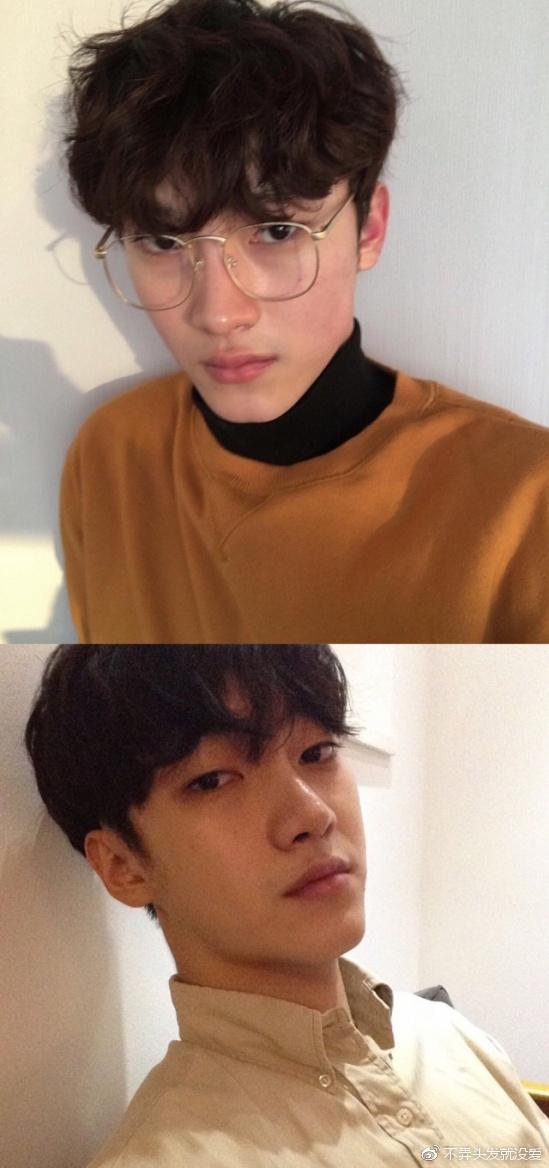 2017短发流行发型韩国男生boy都在留,v短发时尚有发姐!中长小卷烫发图片