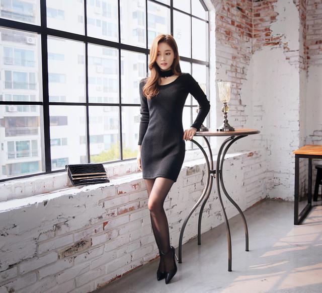 孙允珠高跟黑丝袜性感超短包臀裙, 大众闺秀婀娜多姿