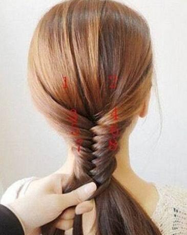韩式瘦脸四股辫的编法图解, 美发发型有发姐!