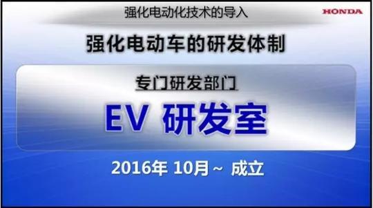 本田新能源战略在华提速 纯电车型发力在即