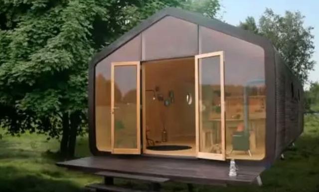 """一款""""瓦楞纸""""做的轻型房子,能让你住100年!"""