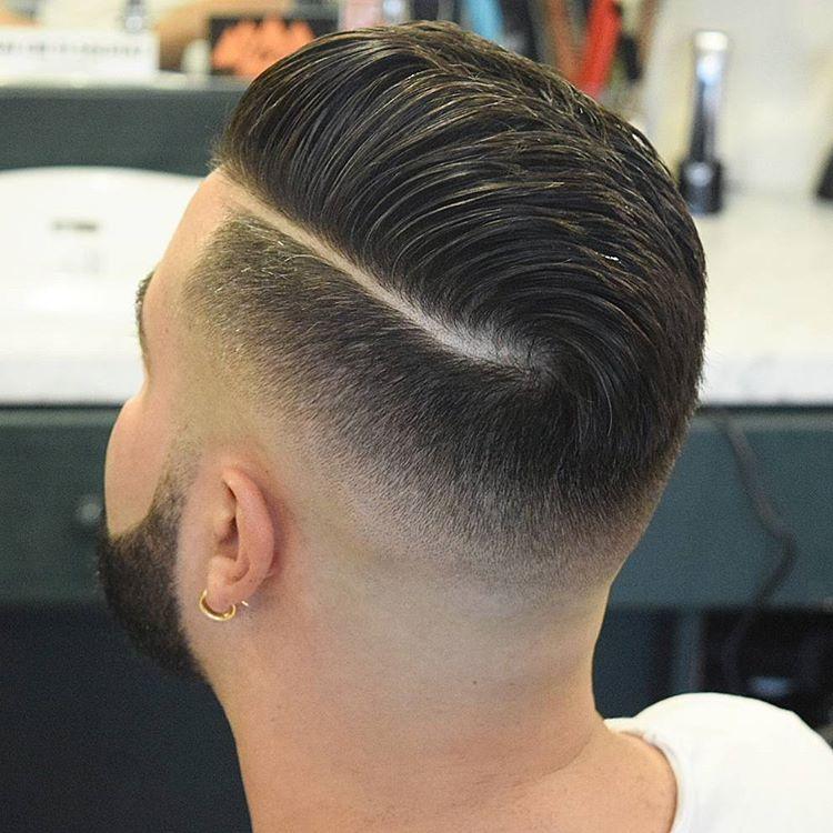 英式男生渐变复古油头,2017最流行的发型之一图片
