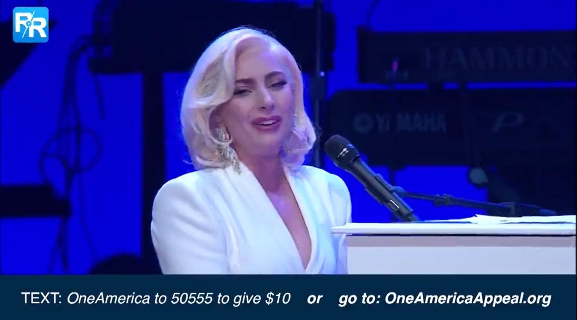 人人视频全网中字首发 Lady Gaga最新慈善晚会现场视频出炉!...