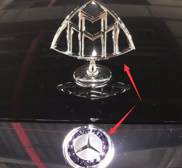 奔驰迈巴赫S400,花800换一个迈巴赫车标,车身档次提升好几倍