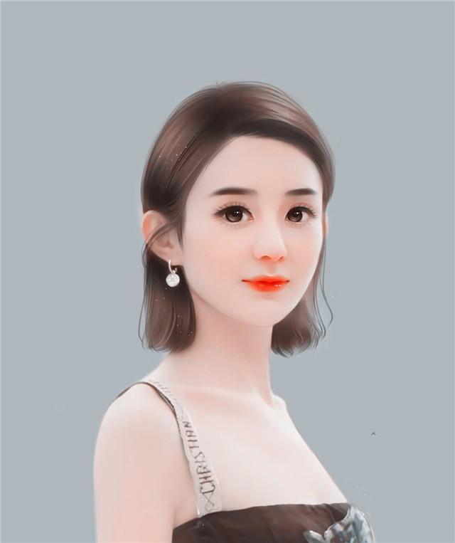 这些手绘的赵丽颖自画像中,我只服最后一张