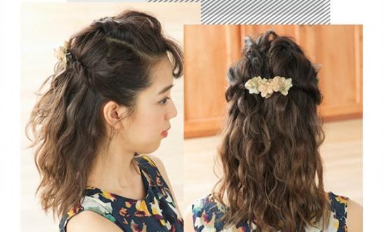 下面美发达人为大家推荐了一款甜美气质发型扎法,扎起来简单又容易学图片