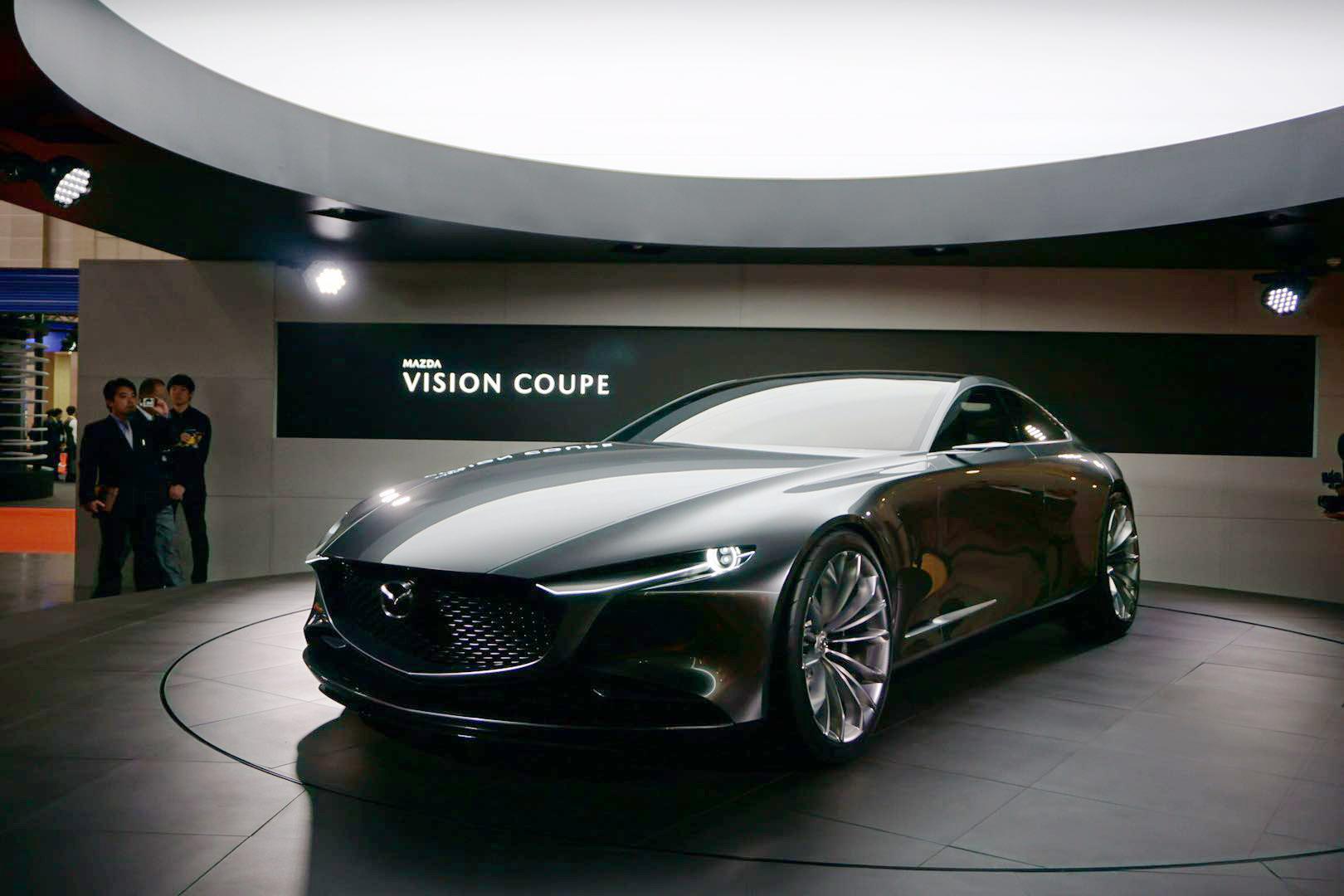 展现全新魂动设计理念,马自达概念车vision coupe亮相