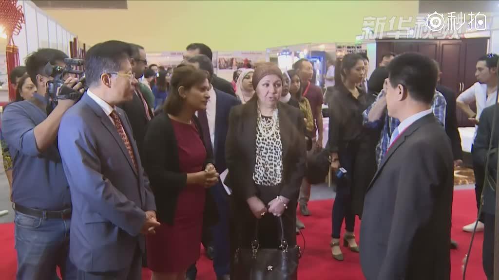 埃及最大规模中国投资贸易博览会开幕