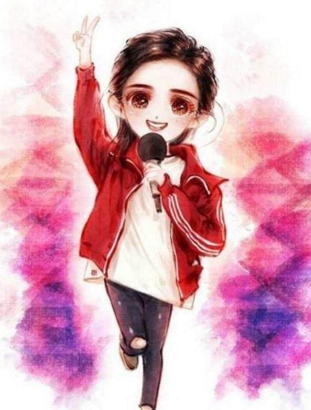 女星的卡通q画图,赵丽颖萌萌哒,看到迪丽热巴泪崩了!