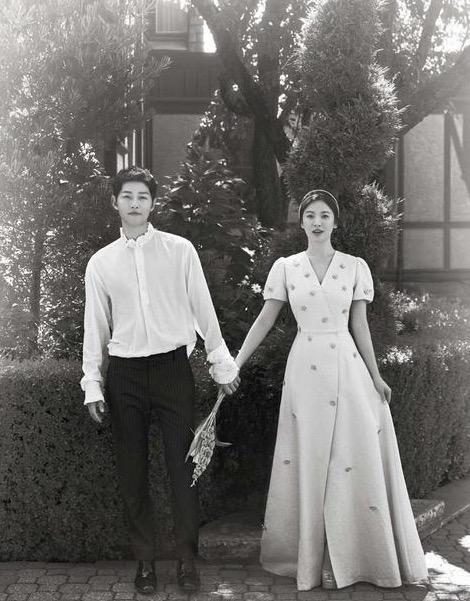 盘点明星们的婚纱照,有的也是蛮影楼风的