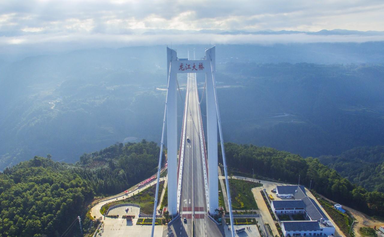 龙江特大桥你没见过的中国云中巨龙 一带一路直通缅甸图片