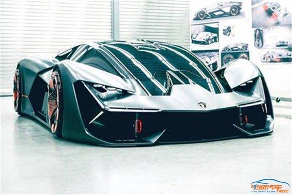 兰博基尼黑科技纯电超跑,维碳纤维车身,可自动修复