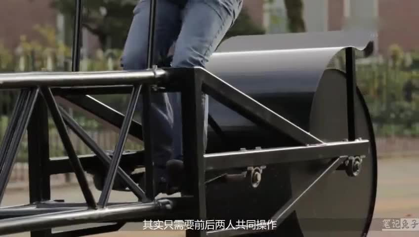 最没用的自行车,全长超35米只能坐两个人