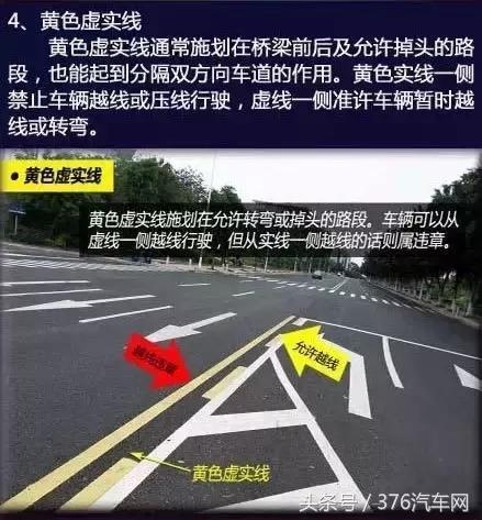双黄线千万不能压!动图详解各种交通标线,很实用