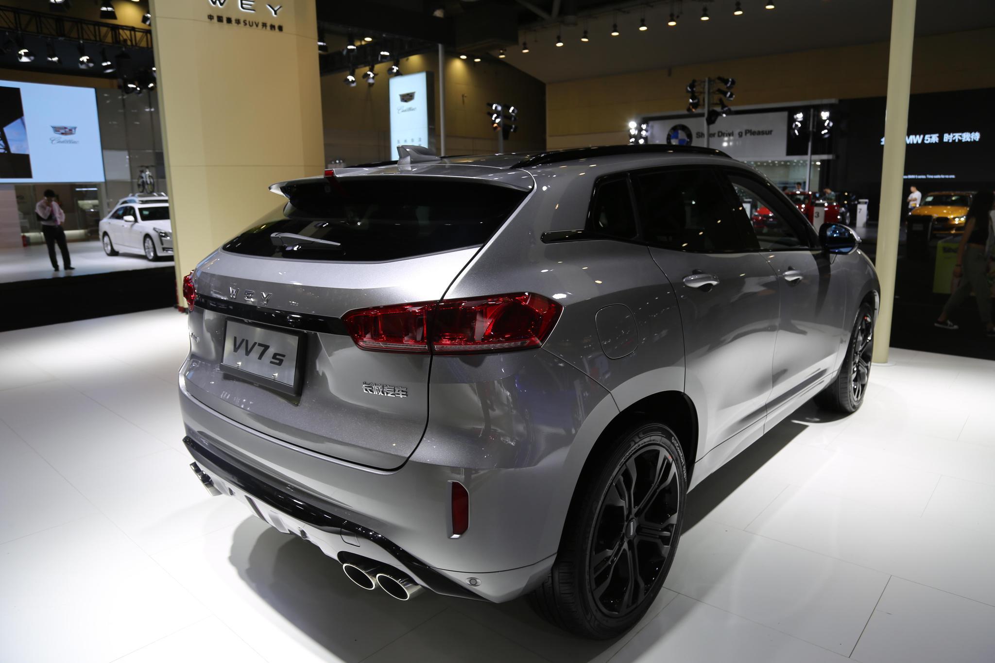 长城WEY汽车VV7s,18万级别豪华SUV,车展实拍!