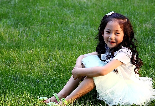 女儿的微笑