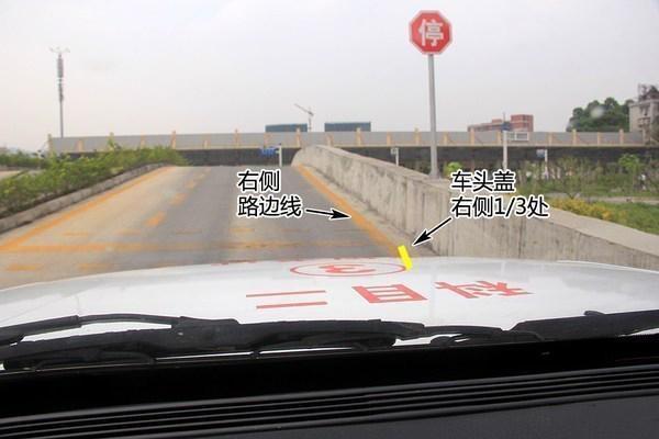 科目二半坡定点停车起步图解 扣分标准