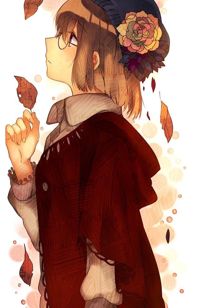动漫二次元美少女侧脸壁纸——每一个侧脸都有你安静