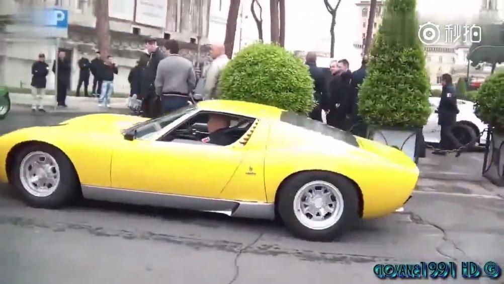 30年前的兰博基尼跑车有多霸气,看了排气管就知道了!   
