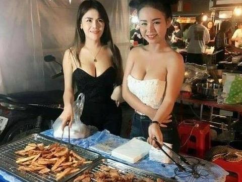 泰国:路边摊老板娘美艳动人,但现实中却是这样.....