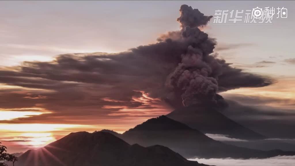 巴厘岛火山喷发 中国公民应谨慎前往