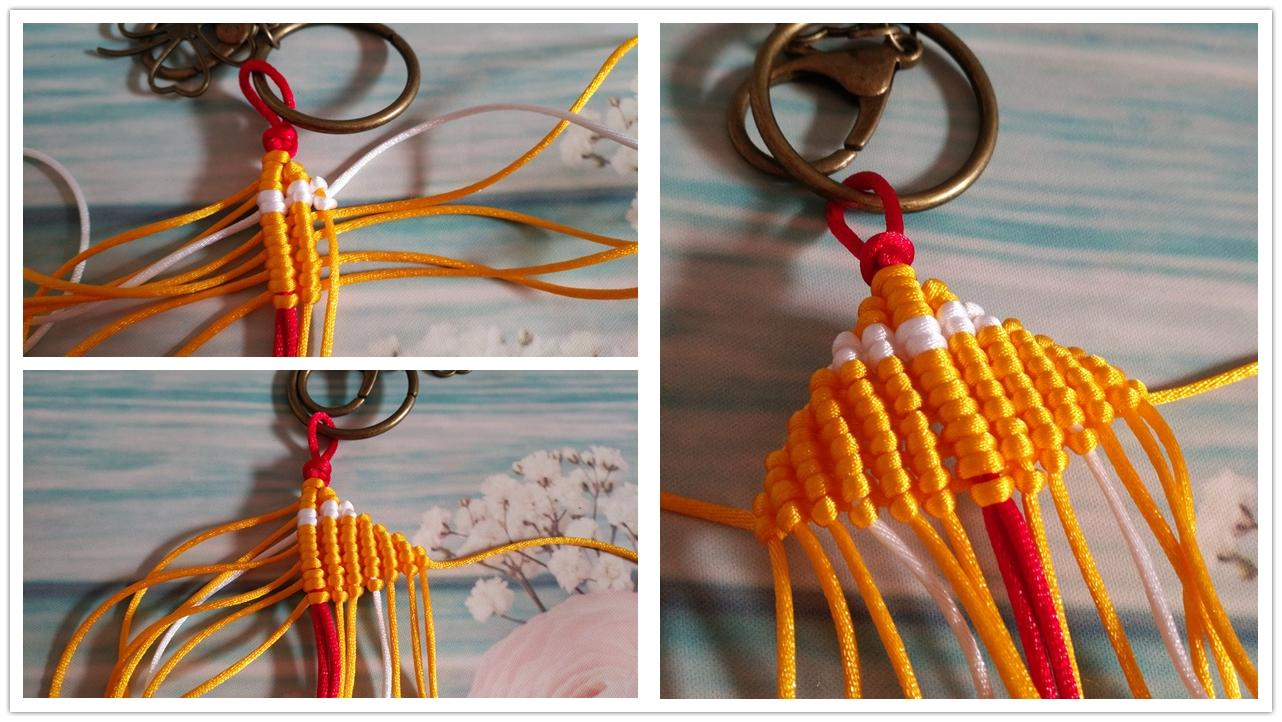 中国结编绳大虾情侣钥匙挂链做法图解, 小时候的经典