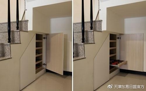 楼梯装修效果图,楼梯也能成为收纳空间