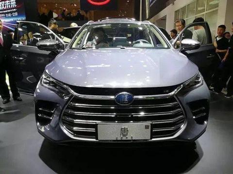 2018北京车展实拍比亚迪换代唐,蓝灰色很少见售15万叫板魏派P8