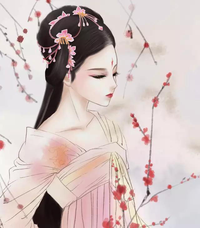 当代国画家徐鹤推荐~唯美古风人物插画锁屏壁纸_新浪