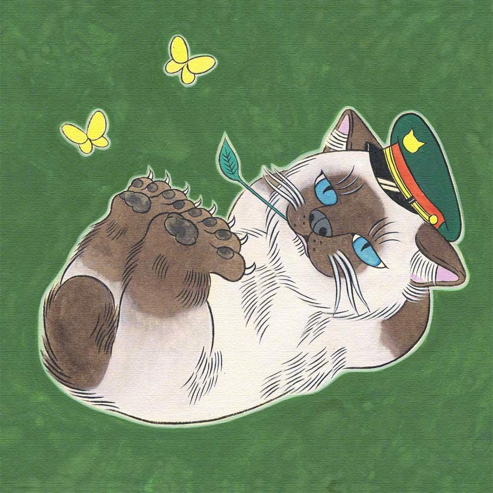 诞又有趣之猫来自石黑亚矢子。她是恐怖漫画家羽毛漫画图片大全图片