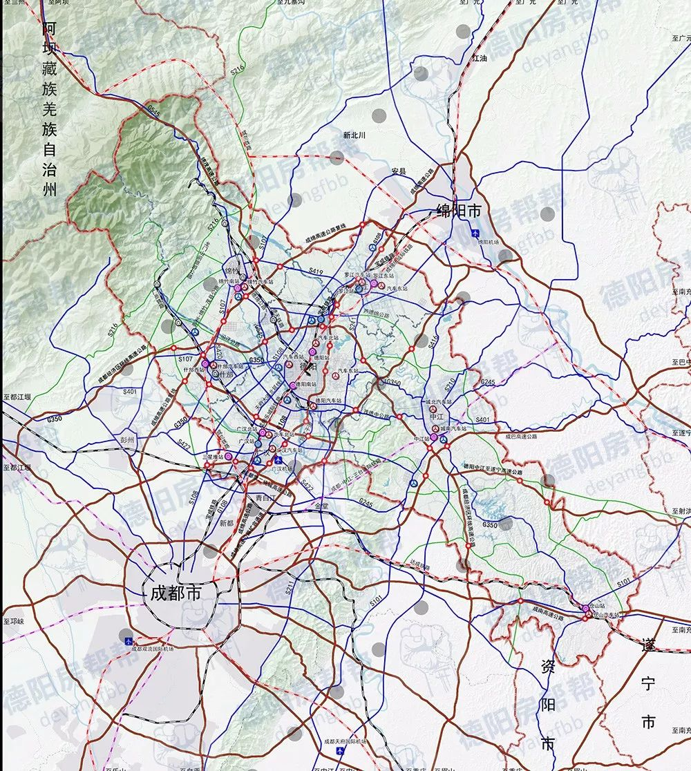 德阳市城市总体规划2016—2030批后公布 重点向南发展