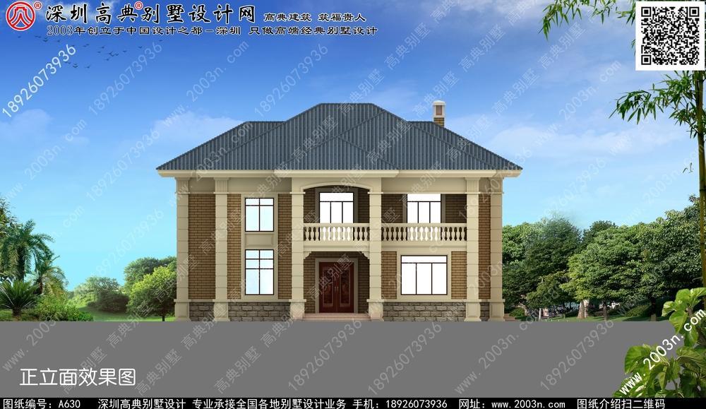 农村自建房两层设计图纸, 古典与开朗两相宜